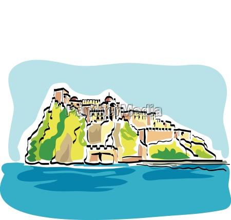 ischia island aragonese castle of ischia