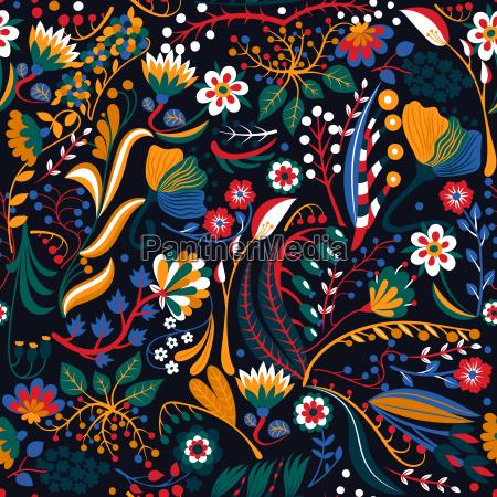 patron floral sin costuras flores creativas