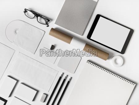 papeleria maqueta plantilla blank id identidad