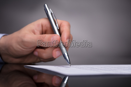 documento de firma de empresario