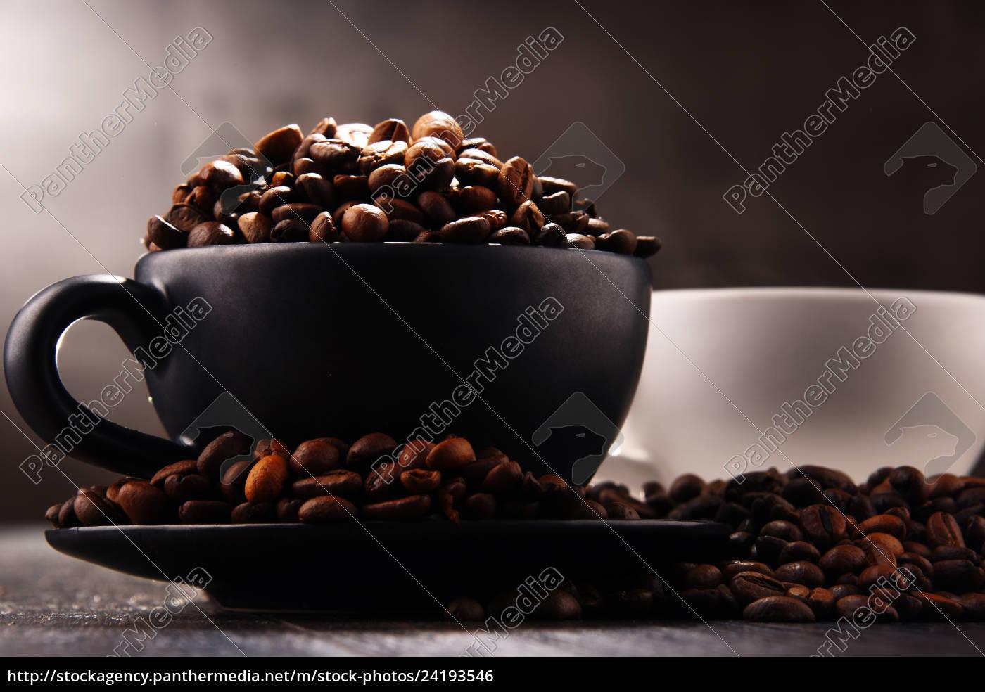 composición, con, dos, tazas, de, café - 24193546