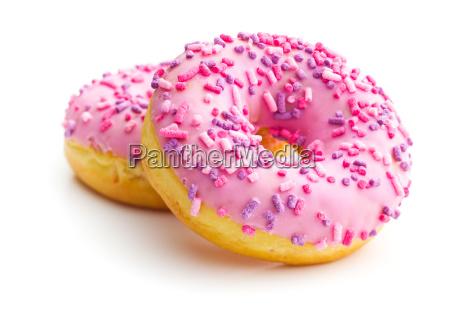 rosquillas dulces rosas