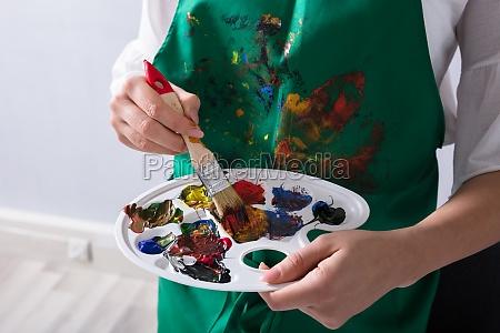 mano color mantener pintura posesion tenencia