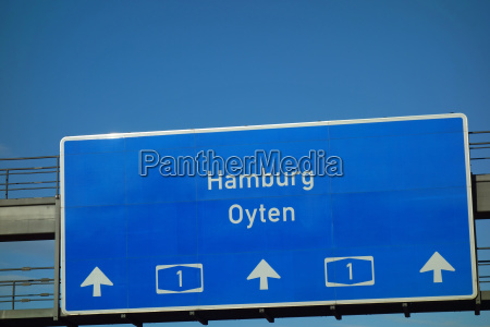 senyal de la autopista hamburgo