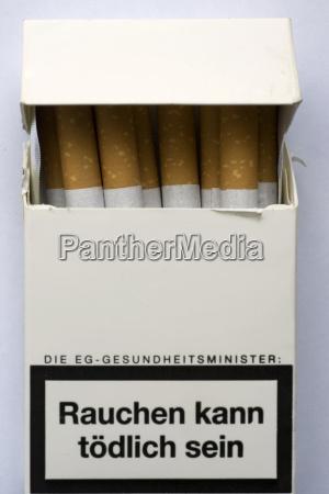 cigarrillo tabaco cigarrillos letal caja de