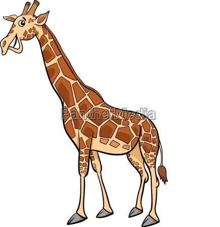 jirafa animal personaje dibujos animados ilustracion