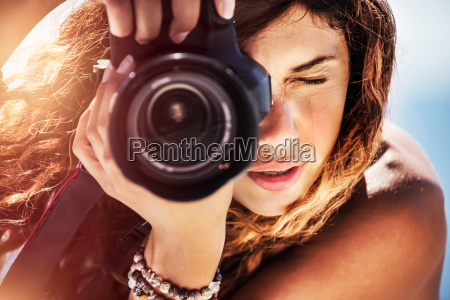 hermosa chica fotografa