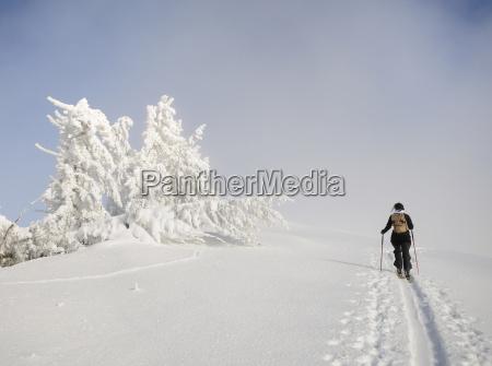 tourists on the summit ridge of