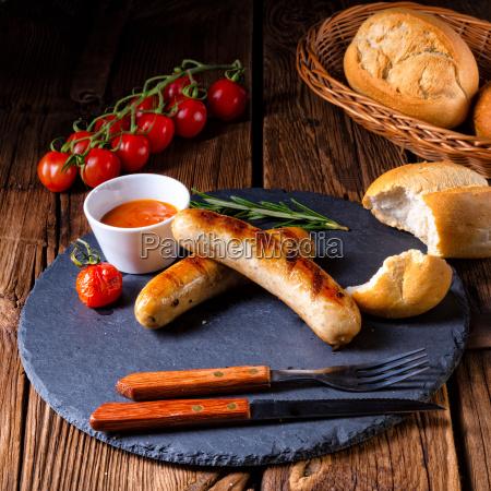 comida caliente delicioso aleman parrilla barbacoa