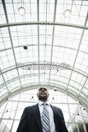 view of a black business man