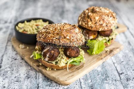 comida pan primer plano madera frescura