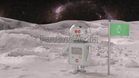 robot en el planeta en el