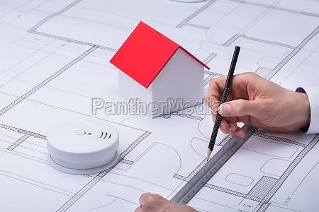 blueprint de dibujo de arquitectura