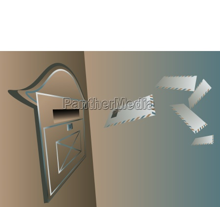 objetos comunicacion ilustracion metal al aire
