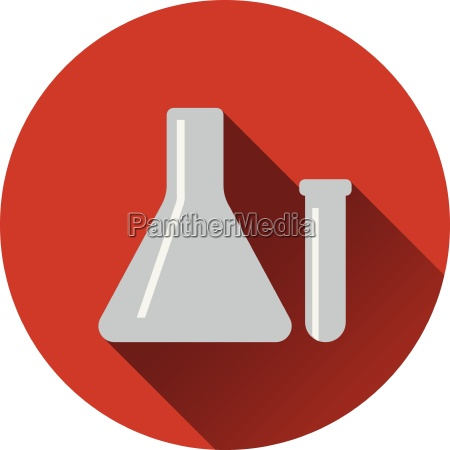 flat design icon of chemical
