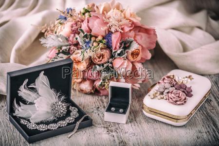 composicion de la boda accesorios para