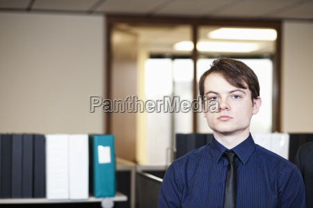 a young hip caucasian businessman in