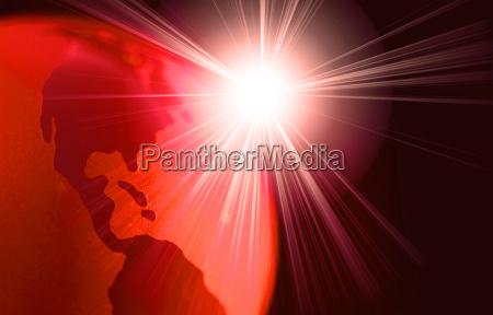peligro horizontalmente calor rayo de sol