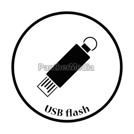 usb flash icon vector illustration