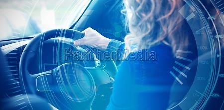 mujer azul paseo viaje ocio grafico