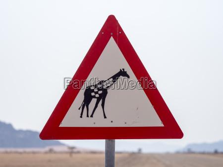 Africa namibia senyal de trafico etiqueta