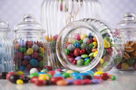 azul comida dulces azucar fruta caramelo