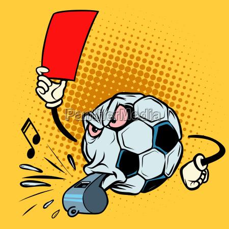 silbato de arbitro de tarjeta roja
