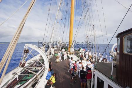a bordo del four mast barquentine
