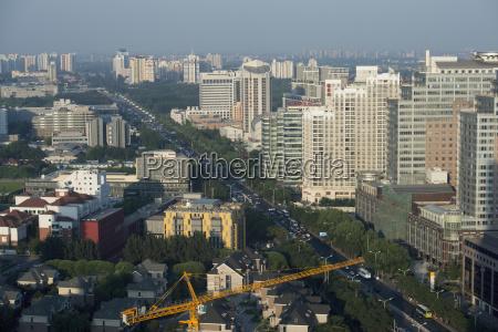 paisaje urbano ocupado de pekin con