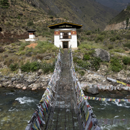 suspension bridge made from wood and