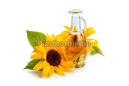 sunflowers and sunflower oil