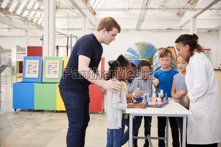 school kids taking part in an