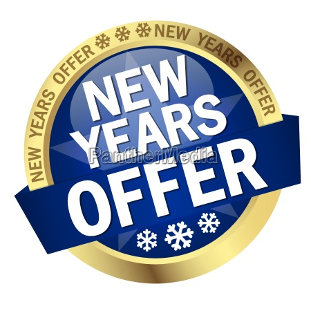 button with banner new years offer