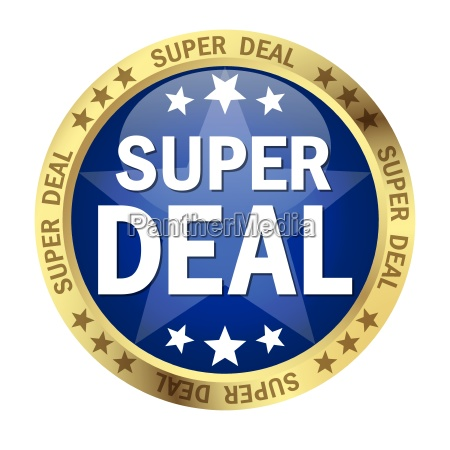 button with banner super deal