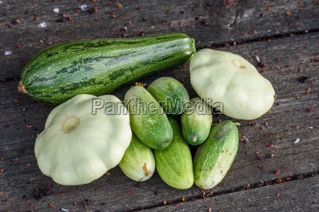 cosecha pepino vegetal aplastar calabacin