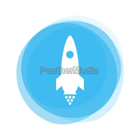 light blue button rocket