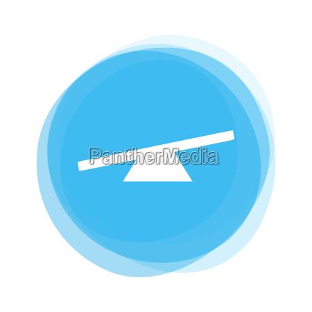 light blue button seesaw