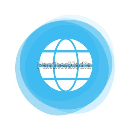 light blue button global