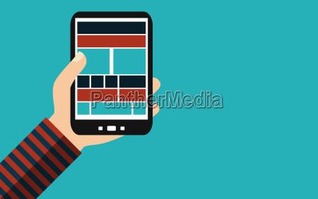 smartphone responsive design flat design