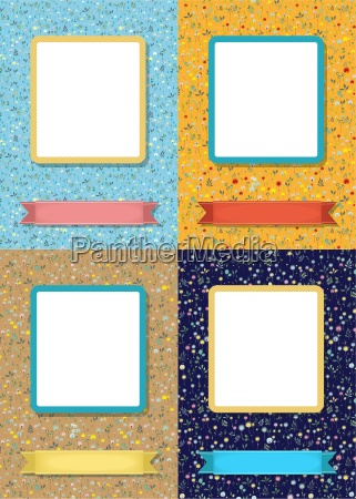 floral frames for picture with banner