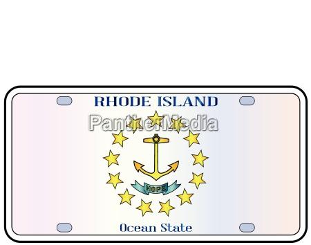 placa de licencia de la bandera