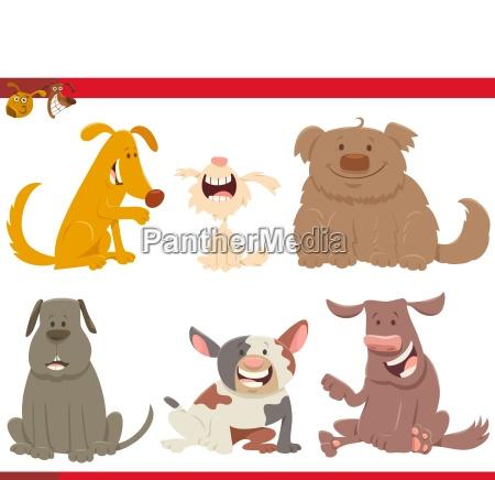 perros felices o cachorros personajes de