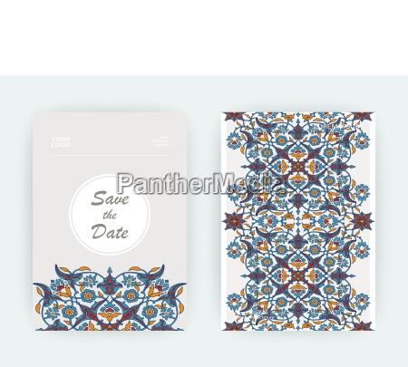 impresion de decoracion floral arabesca vector