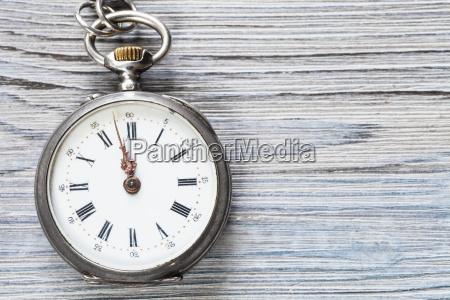 two minutes to twelve on vintage