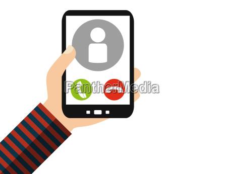 smartphone call person flat design