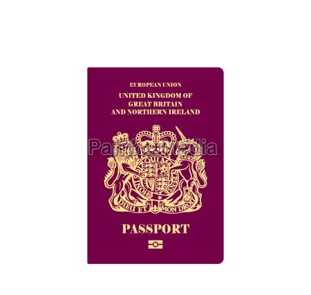 ilustracion de pasaporte britanico