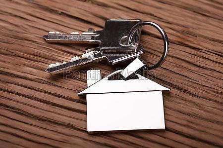 house keychain on key