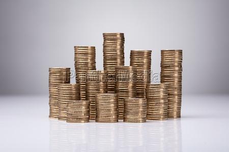 presupuesto monedas negocios trabajo mano de