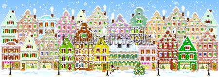 ciudad en invierno estandarte