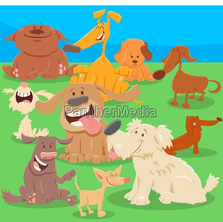 perros o cachorros dibujos animados personajes